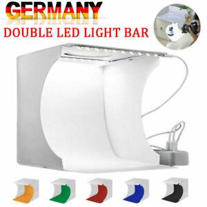 Fotobox Fotostudio LED Lichtbox Hintergrund Lichtwürfel Professionell Fotografie