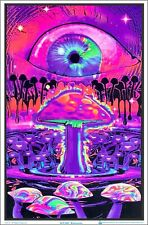 Mushrooms Blacklight Poster 23 x 35