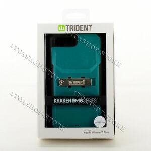 Trident Kraken iPhone 7 Plus & iPhone 8 Plus Case w/Holster Belt Clip Teal/Black
