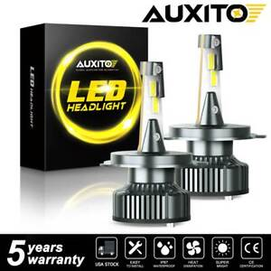 Auxito 9003 H4 LED Headlight Bulbs Car 16000LM 2x 36W High Low Beam CANBUS 6500K