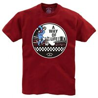 WAY OF LIFE CLARET T-SHIRT (Cass Pennant Collection) BY HAWKINS & JOSPEH