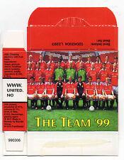 Futera Man United Sweet Cigarette Candy Stick Type Box 1999 Team Group