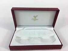 Must De Cartier Paris Empty Red Signature Leather Box CO 706 Eyeglass Case Vtg
