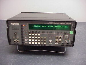 Sage Instruments 930A Communications Test Set Passes Self Test!