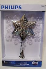 9 IN CLEAR/SILVER LED 10 LIGHT STAR ILLUMINATED TREE TOPPER CHRISTMAS DECORATION