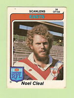 1980  EASTERN SUBURBS ROOSTERS  SCANLENS RUGBY LEAGUE  CARD #38  NOEL CLEAL