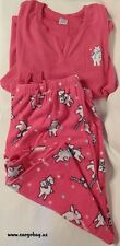 NEW PINK FLEECE POLAR BEAR PJ PAJAMA XXL 22/24 LOUNGEWEAR FREE SHIP Plus Size