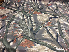 """WASHED MOSSY OAK TREE STAND CANVAS DUCK CAMO FABRIC BY THE YARD 56"""" CAMOUFLAGE"""