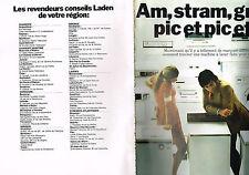PUBLICITE  1973   LADEN lave linge (2 pages recto verso)