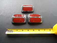 Schwinn Columbia Bicycle reflector   3 inch old school twin red reflectors mint