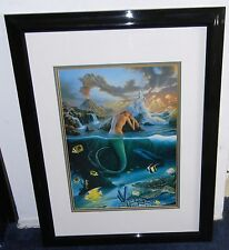 "BEAUTIFUL Wyland ""Mermaid Dreams"" (Professionally Matted & Framed)"