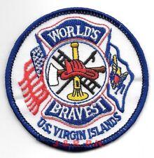 "U.S. Virgin Islands  ""World's Bravest""  (3"" round size)  fire patch"