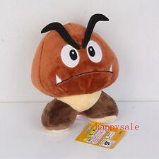 "Super Mario 5""Goomba Plush Doll Brown Mushroom Figure Stuffed Toy Christmas Gift"