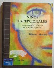 Ninos Excepcionales Introduccion a Educacion Especial por William Heward PB 1996