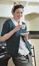 KNITTING PATTERN Ladies 1950s Style Cardigan 3/4 Sleeves Sirdar PATTERN