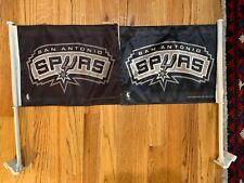 San Antonio Spurs NBA Premium Car Flags TWO FLAGS 11x14 NICE