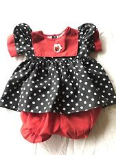 Vintage Red Black Doll Dress Bloomers Clothing F/ CPK My Child Bitty Baby