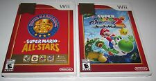 Super Mario All-Stars & Super Mario Galaxy 2 Bundle Nintendo Wii Brand New!