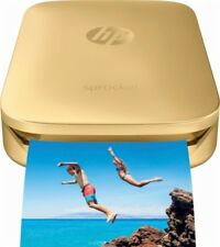 HP Sprocket Portable Photo Printer, print social media photos, Mini Pocket GOLD