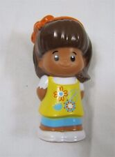 Fisher Price Little People MIA YELLOW FLORAL JUMPER DRESS Hispanic Girl Bow
