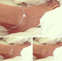 Sexy Simple Chain Anklet Heart Love Bracelet Barefoot Sandal Beach Foot Jewelry