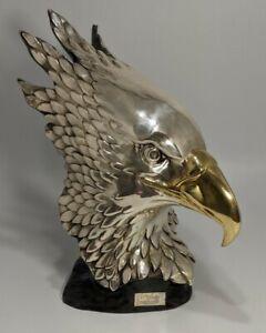 "Eagle Sculpture .999 Silver Plate Mexico ""UN SUEÑO EN PLATA"" ""A DREAM IN SILVER"""