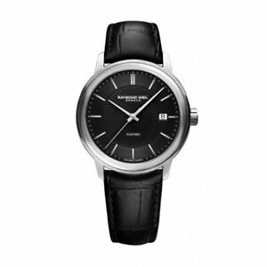 RAYMOND WEIL Maestro Automatic 39.5mm Silver Steel Case with Black Leather Band