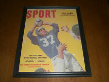 1956 LIONS DOAK WALKER FRAMED COLOR SPORT PRINT