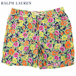 Polo Ralph Lauren Floral Swimsuit Swim Shorts - Navy, Yellow, Orange - Size XXL