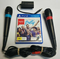 Playstation 4 Ps4 Sing Star 2x Microphones + Singstar Ultimate Party Bundle