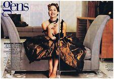 COUPURE DE PRESSE CLIPPING 1994 SHARON STONE je suis comme certains fruits  6 pg
