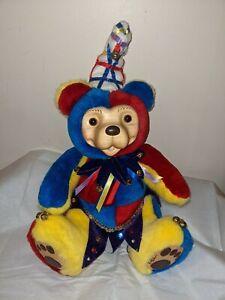 "Robert Raikes Collectibles ""Ilia Clown"" Serial Numbered 362/750 Wooden Bear"