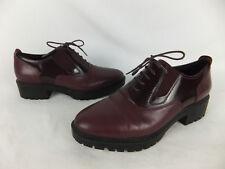 GEOX Respira Chaussures - 39,5 - Bordeaux rouge-Lisse et cuir verni-Chaussure Lacée