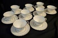 Royal Doulton Adrian Cups and Saucers 9 sets (Lot of 18)
