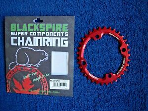 Blackspire Snaggletooth OVAL Chainring 34T 104 BCD  RED Narrow Wide 12 Speed NEW