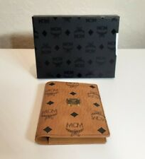 MCM Co Cognac Heritage Passport Holder
