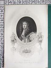 C1830 Antico Stampa ~ Charles II