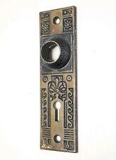 """Antique Ornate Door Knob Plate 5 7/8"""" x  1 3/4"""""""