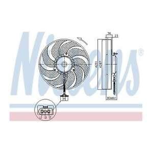 Fits VW Golf MK4 1.9 TDI 4motion Nissens Engine Cooling Right Radiator Fan