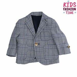 NEILL KATTER Blazer Jacket Size 6M Partly Lined Prince Of Wales Pattern