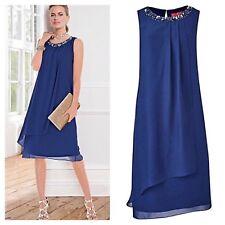 Together @ Kaleidoscope Size 8 Navy Blue Georgette Layered Embellished DRESS £85
