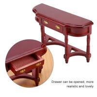 1:12 Dollhouse Half-round Miniature Mini Wooden Furniture Desk for Children BD