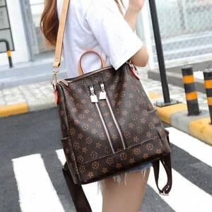 Women's Ladies Leather Backpack Anti-Theft Rucksack Travel Shoulder Bag Satchel