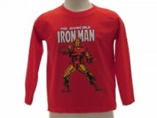 Marvel Avengers - maglia manica lunga bambino Iron Man taglia 7/8 anni