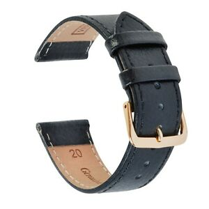VintageTime Watch Straps - Buffalo Grain Calf Leather Replacement Watch Bands