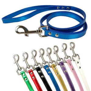 "5/8"" Wide Bling Metallic PU Leather Cat Dog Leash Leads 8 Colors 48"" Long"