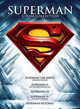 Superman: 5 Film Collection (DVD, 2013, 5-Disc Set) - NEW!!
