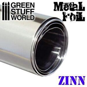 Flexible Metallfolie - Zinnfolie - 10x45cm - Zinn Hohlprägen Prägungs Einprägung