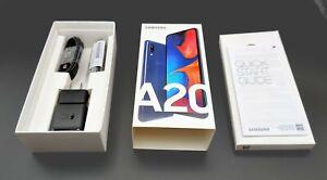 Samsung Galaxy A20 32GB Black GSM Factory Unlocked All Carrier A205U w/ BOX