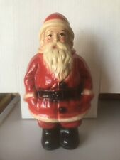 "Antique Santa Christmas Gorgeous 10"" Chalkware Ceramic Bank 1930 Great Cond!"